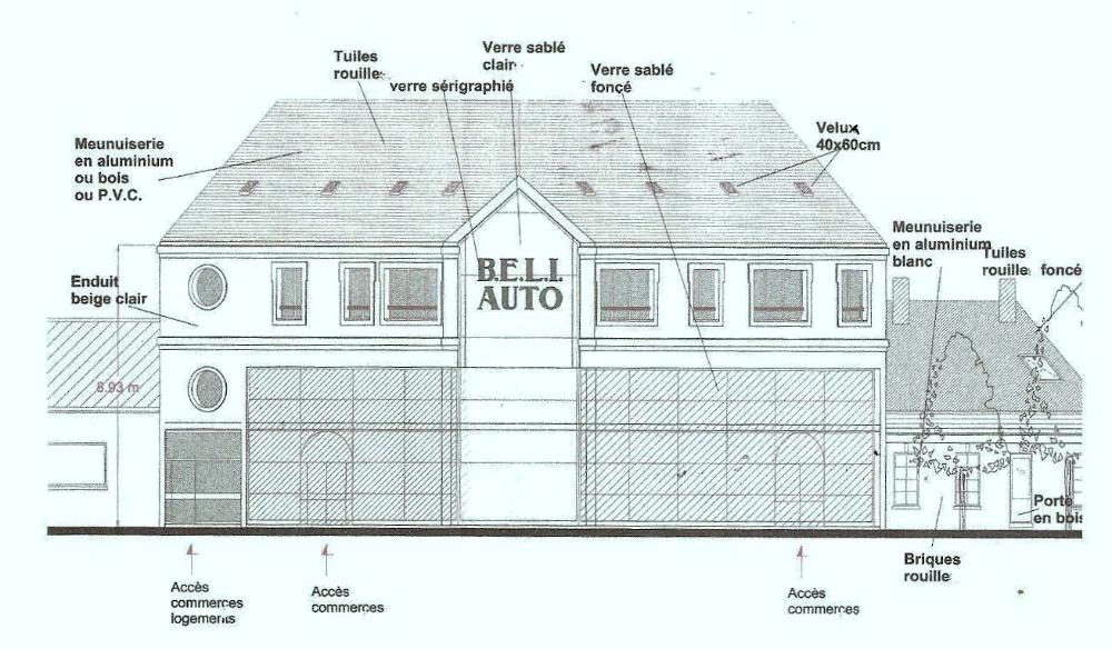 H tellerie commerce a c t e s cabinet d 39 architecture for Garage bon accueil saint denis